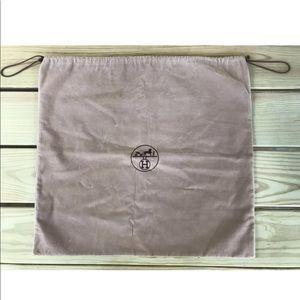 HERMES Camel 'Velvet' Dust Bag Cover